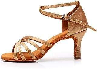 YKXLM 女式专业拉丁舞鞋 舞会 婚礼 表演鞋 型号 AWHXGG