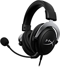HyperX CloudX – Xbox 官方*游戏耳机,兼容 Xbox One 和 Xbox 系列 X|S,*泡沫耳垫,可拆卸降噪麦克风,内嵌音频控制,银色