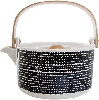 Marimekko 茶壶 白黑色 700毫升