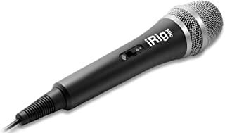 iRig Mic 手持麦克风,适用于音频和语音录音,兼容 iPhone、iPod Touch 和 iPad - 黑色/银色
