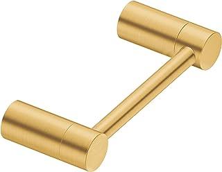 Moen 摩恩 YB0408BG 对齐旋转双柱现代卫生纸架,拉丝金色