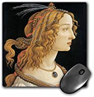 3drose llc 8 x 8 x 0.25 英寸鼠标垫,神秘猜谜的年轻女性 Sandro botticelli (mp_127037_1)