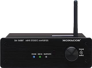 MONACOR SA-160BT 迷你立体声放大器,2 x 30W 黑色