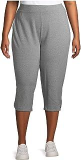 Terra & Sky 中号灰色混色加大码运动休闲针织七分裤