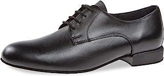 Diamant 男士舞鞋 179-025-028 - 黑色皮革 - 舒适宽)- 1 英寸(约 2.54 厘米)交际舞鞋 - 德国制造