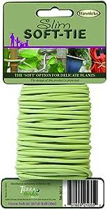 Tierra Garden 50-3010 Haxnicks 纤细软领带,67.06 厘米,绿色 26.3' Tie010300