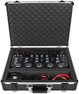 模拟保护套 UNISON 适用于 Boss RC-505 或类似环站(运输箱,铝角保护,带手柄的加垫盖子,电缆存储隔层),黑色