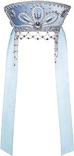 Danila-纪念品俄罗斯传统民间服装头饰Kokoshnik Victoria 浅蓝色 #951