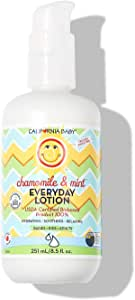 California Baby 日用乳液(8.5 盎司)适用于干燥、敏感肌肤 | 浴后和换尿布 | 不油腻,快速吸收* Chamomile & Mint- 8.5oz