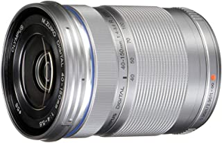 OLYMPUS 奥林巴斯 M.Zuiko Digital ED 40-150mm F4.0-5.6 R 变焦镜头,用于微型四分之三相机(银色)