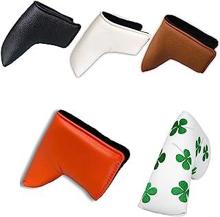 A\N 高尔夫叶片推杆头套 - 合成皮革高尔夫推杆头套 - 男士高尔夫配件推杆盖宽度 1.97 英寸