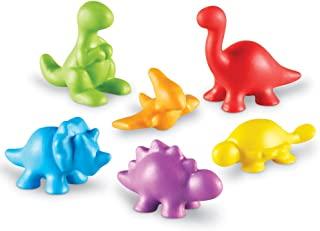 Learning Resources 时光倒计时恐龙计数器,各种形状和颜色,72套,适合3岁以上的人群