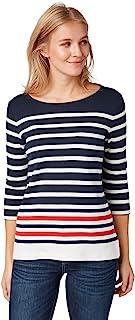 TOM TAILOR 女士T恤/上衣条纹长袖衬衫