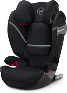 CYBEX Gold Solution S-Fix 儿童汽车安全座椅,含倾斜式头枕,兼容ISOFIX,Group 2/3(15-36公斤) ,适合大约3岁至12岁的儿童,深黑色