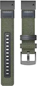 EANWireless 兼容 Garmin 佳明 Fenix 6 表带,轻松贴合 22 毫米尼龙替换表带,适用于 Fenix 6/Fenix 6 Pro/Fenix 5/Fenix 5Plus 智能手表,军*
