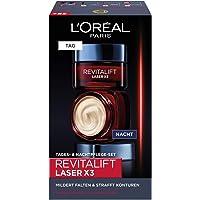 L'Oreal Paris 巴黎欧莱雅 Revitalift Laser X3 日霜晚霜礼品套装,透明质酸抗皱面霜