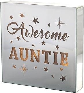 Xpressions 阿姨发光玻璃饰片,生日,家居装饰,多色,均码
