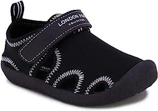 London Fog 儿童儿童 Corby 防护涉水鞋,包头运动凉鞋 - 中性款