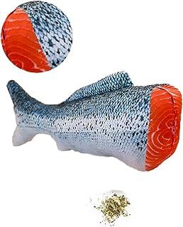 KAILIN 30CM/11.8 英寸猫薄荷玩具猫玩具小猫鱼玩具带拉链长毛绒鱼类可更换猫薄荷互动宠物咀嚼玩具