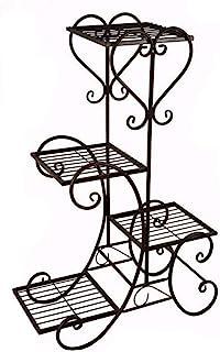全新黑色花园装饰花架锻铁金属户外室内花盆植物支架
