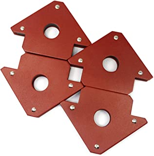 4 件 CMS 磁性焊接支架 25 磅 固定动力焊接配件(25 磅焊接磁铁)