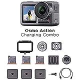 DJI Osmo 动作充电组合 – 数码相机带配件套件,双屏幕,防水高达11米,集成稳定,4K HDR 100 Mbps…