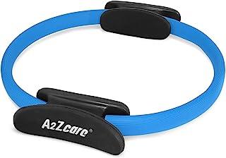 A2ZCARE 普拉提戒指 - 健身、健身、有氧运动、普拉提、瑜伽锻炼、塑身和强化大腿、腹部和腿 - 直径 12 英寸。 用于更强的抗力