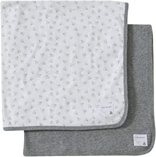 "Burt's Bees 婴儿2件套有机毛毯, SKY 蜜蜂,73.7x 73.7cm 麻灰 29"" x 29"""