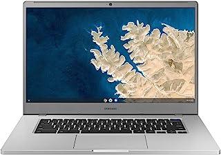 SAMSUNG 三星 XE350XBA-K01US Chromebook 4 + Chrome OS 15.6 英寸全高清英特尔赛扬处理器 N4000 4GB RAM 32Gb Emmc 千兆 Wi-Fi,银色