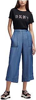 DKNY 女式轻质高腰休闲裤蓝色 M 码