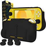 Orzly Grip Nintendo Switch Lite 手机壳 - 带舒适加垫手柄,支架,拇指握包