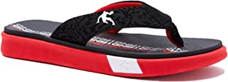 AND1 黑色和红色环形凉鞋