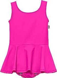 City Threads 女婴 1 件泳衣带可重复使用的游泳尿布泳衣组合,UPF50+ *防漏