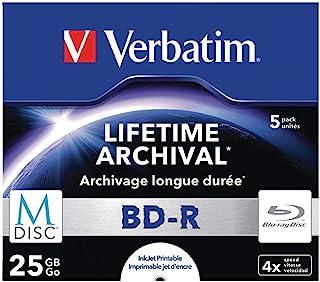 Verbatim 主轴43823 BD-R 5 Pack Jewel Case