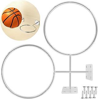 ''N/A'' 2 件篮球架壁挂支架,5.7 英寸(约 14.5 厘米)不锈钢运动球架展示存储用于足球和排球