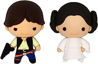 星球大战 Han Solo 和莱亚公主 3D 泡沫厨房冰箱冰箱贴(2 个装)