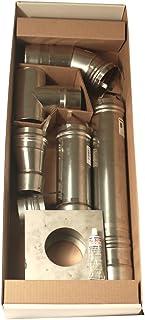 Mr. Heater 10.16 cm 不锈钢水平通风孔套件适用于 Big Maxx MHU50 和 MHU80 单位加热器