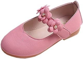 Vokamara 女婴柔软 PU 皮玛丽珍花朵蝴蝶结礼服鞋