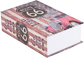 Creative Book 仿真书保险箱,保险箱家庭*钢词典书*钱珠宝收藏存储箱(ROUTE 66)