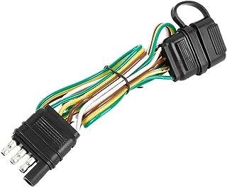 X AUTOHAUX 拖车4线插头32英寸(约81.3厘米)4针扁平电缆延长公母连接器