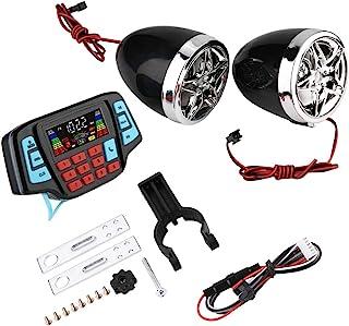 Aukson 摩托车扬声器,防水摩托车 BT MP3 播放器,音频立体声系统 USB TF 卡载体
