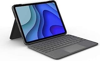 罗技 iPad Pro 11英寸 *2代 *代 对应 带触控板 键盘壳 Smart Connector 连接 Folio Touch iK1175BKA 英语排列 薄型 带背光智能连接器