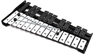 专业大号黑色木制钟琴木琴,带 25 个金属钥匙,适合成人和儿童使用 - 包括 2 个木制打击器和手提箱