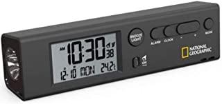 National Geographic 国家地理 无线电闹钟 世界时间闹钟 带时间 适用于全球 62 个城市 手电筒功能和内置温度计