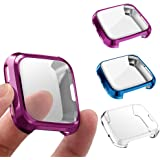 3 件装屏幕保护膜兼容 Fitbit Versa,GHIJKL 超薄软全盖保护套适用于 Fitbit Versa Ver…
