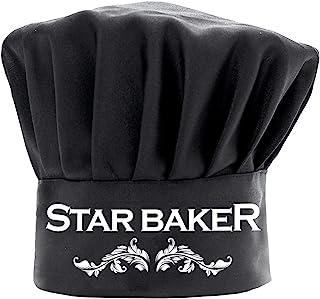 厨师帽女士男士搞笑黑色,星贝克烹饪帽可调节厨房厨师帽贝克礼物生日母亲节圣诞节礼物
