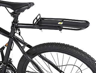 HEYNEMO 可伸缩自行车架,行李箱行李架自行车背带,容量为 22 磅,高度可调节自行车支架通用自行车后框架安装货物架