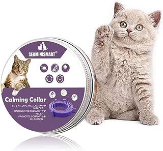 SEGMINISMART 舒缓项圈适用于猫,猫舒缓项圈,猫信息素舒缓项圈,可调节防水舒缓项圈,适合小型、中型和大型猫,持久效果(猫用 15 英寸)