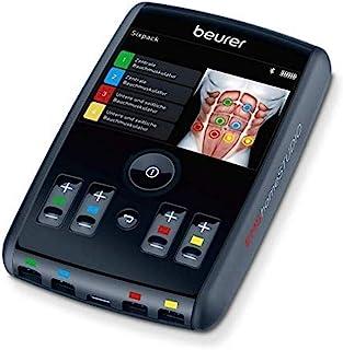 Beurer 博雅 EMS homeSTUDIO 肌肉刺激设备,高端 EMS 家庭训练设备,带应用程序和虚拟教练,包括袖口和电极