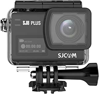 SJCAM SJ8 Plus 2814 运动摄像机 4K Native 30M,OLED 触摸屏,运动水摄像机带电池和外部充电器,3 轴陀螺仪,X4 数码变焦,1200mAh,黑色,2.3 英寸